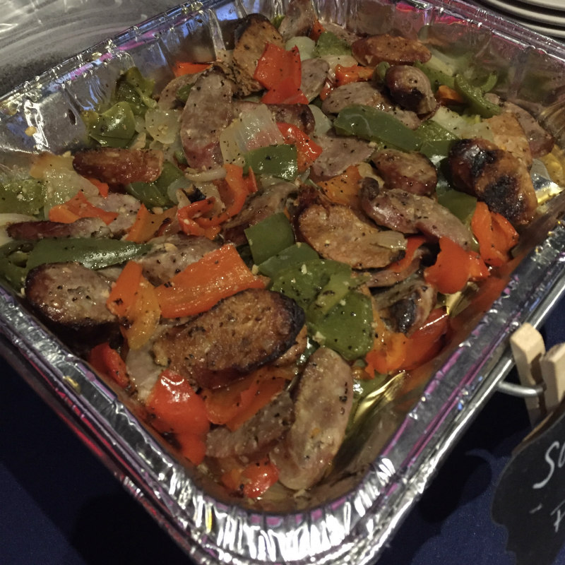 Sausage Peppers Tray